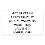 Going Vegan Sticker (Rectangle 10 pk)