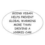 Going Vegan Sticker (Oval)