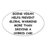 Going Vegan Sticker (Oval 10 pk)