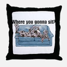 NMrl Where RU Throw Pillow