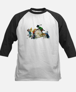 Cool Cats In The Band Kids Baseball Jersey