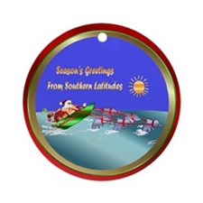 Dolphins Lead Santa Ornament (Round)