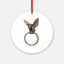 Gargoyle knocker Ornament (Round)