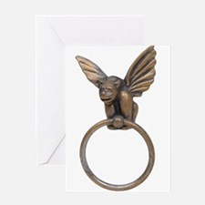 Gargoyle knocker Greeting Card