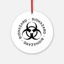 Biohazard Symbol Ornament (Round)