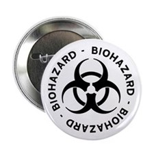 """Biohazard Symbol 2.25"""" Button (100 pack)"""