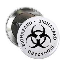 """Biohazard Symbol 2.25"""" Button (10 pack)"""