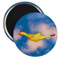 """Rubber Chicken 2.25"""" Magnet (10 pack)"""