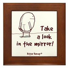 Take A Look In The Mirror Framed Tile