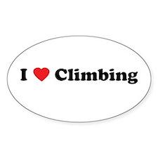 I Love Climbing Oval Decal