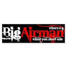 Big Airman Bumper Bumper Sticker