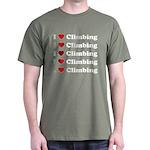 I Love Climbing (A lot) Dark T-Shirt