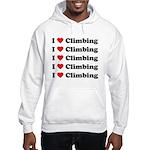 I Love Climbing (A lot) Hooded Sweatshirt