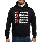 I Love Climbing (A lot) Hoodie (dark)