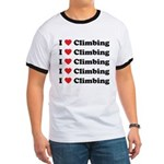I Love Climbing (A lot) Ringer T