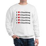 I Love Climbing (A lot) Sweatshirt