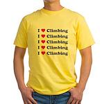 I Love Climbing (A lot) Yellow T-Shirt