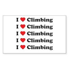 I Love Climbing (A lot) Rectangle Decal