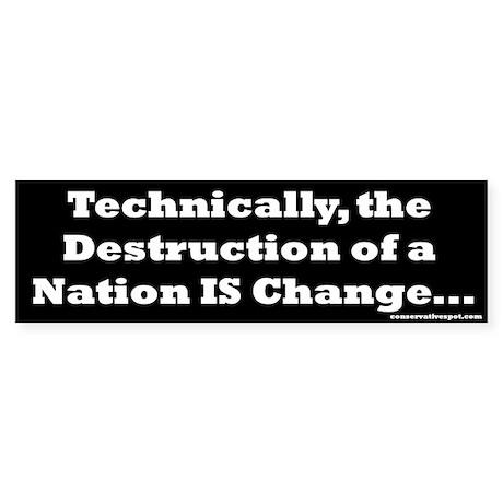 Technically - Destruction Bumper Sticker (10 pk)