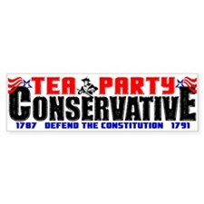 """Tea Party Conservative"" Bumper Bumper Sticker"