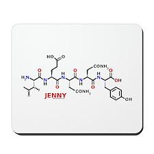 Jenny name molecule Mousepad