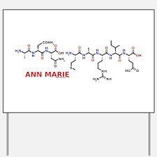 Ann Marie name molecule Yard Sign