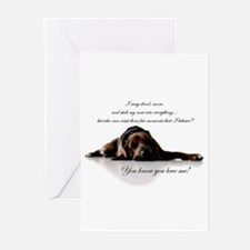 Cute Bloodhound Greeting Cards (Pk of 20)