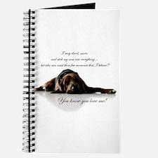 Cute Bloodhound Journal
