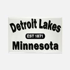 Detroit Lakes Est 1871 Rectangle Magnet