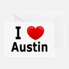 I Love Austin Greeting Cards (Pk of 20)