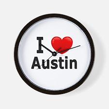 I Love Austin Wall Clock