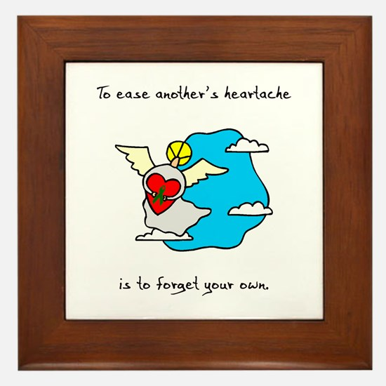 Ease Heartache Framed Tile