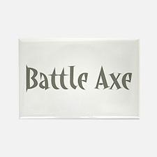 Battle Axe Rectangle Magnet