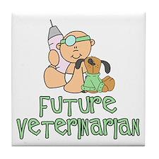 Future Veterinarian Baby (tx) Tile Coaster