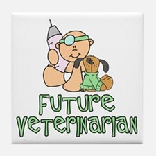 Future Veterinarian Baby (tx) Tile Coaster