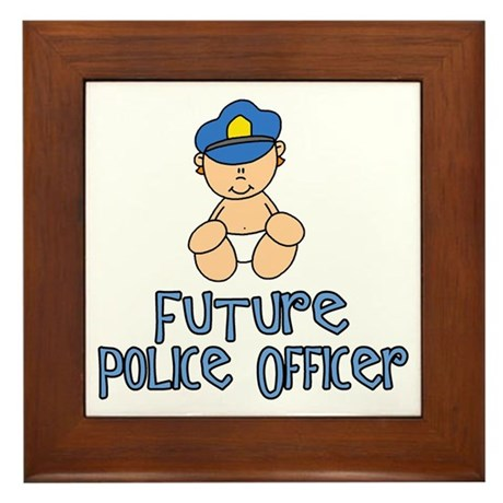 Future Police Baby (tx) Framed Tile