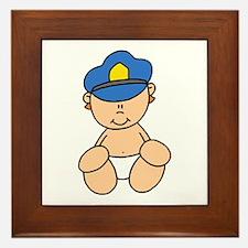 Future Police Baby Framed Tile