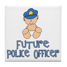 Future Police Baby (tx) Tile Coaster