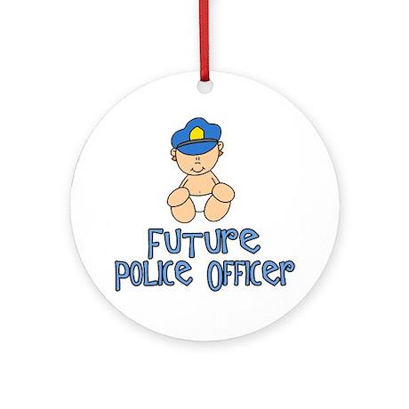 Future Police Baby (tx) Ornament (Round)