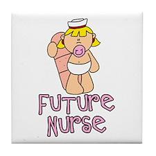 Future Nurse Baby (tx) Tile Coaster