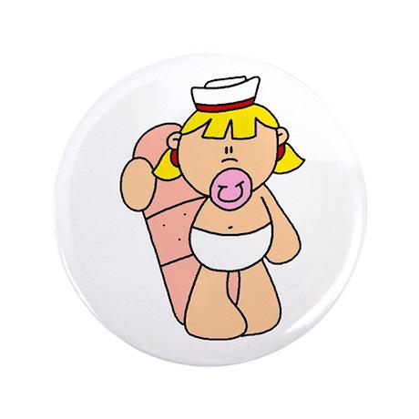 """Future Nurse Baby 3.5"""" Button"""