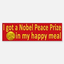 Nobel Happy Meal Bumper Bumper Bumper Sticker