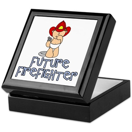 Future Firefighter Baby (tx) Keepsake Box