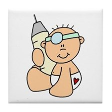 Future Doctor Baby Tile Coaster