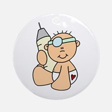 Future Doctor Baby Ornament (Round)