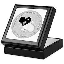 Heart lace / ying yang Keepsake Box