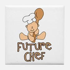 Future Chef (tx) Tile Coaster