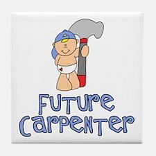 Future Carpenter Baby (tx) Tile Coaster