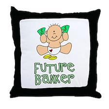 Future Banker Baby (tx) Throw Pillow