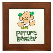 Future Banker Baby (tx) Framed Tile